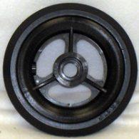 CW101 5 x 1″ 3 SPOKE MAG Caster Wheel Urethane Pyramid Tire