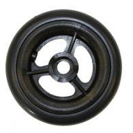 CW102 5 x 1″ 3 SPOKE MAG Caster Wheel Urethane Round Tire