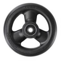CW042Q 4 x 1″ HOLLOW SPOKE Caster Wheel Urethane Round Tire