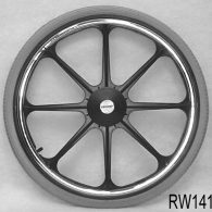 RW141 22 x 1 3/8″ 8 SPOKE MAG Flush Hub For 7/16″ Axle Pneumatic Street Tire