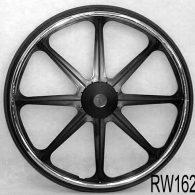 RW162 24 x 1 3/8″ 8 SPOKE MAG Flush Hub For 7/16″ Axle Urethane Economy Tire