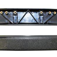 BLACK PLASTIC ARMREST (DESK LENGTH), AR071