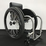 Mono shock – Custom Titanium Wheelchair